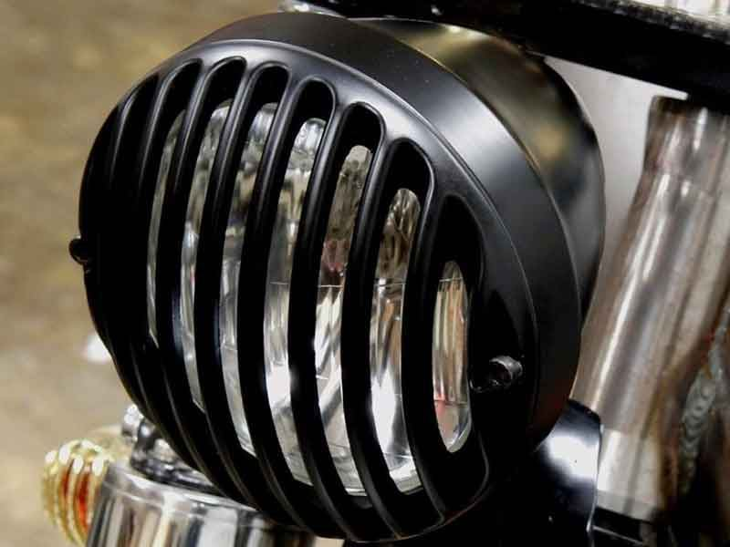 ROYAL ENFIELD CLASSIC TAIL LIGHT GLASS PROTECTION BLACK GRILL NEW