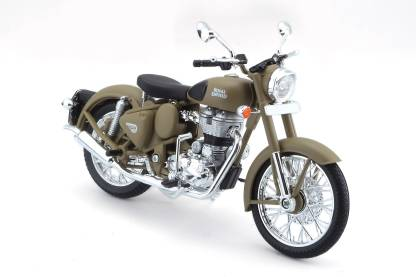 Royal Enfield Classic 500 Miniature Desert Storm Scale 1 12 Diecast Model Bike
